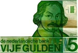 Vijf gulden testament verdelen van geld