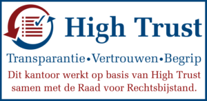 High Trust Transparantie Vertrouwen Begrip. Santema Advocatuur werkt op basis van High Trust samen met de Raad voor Rechtbijstand